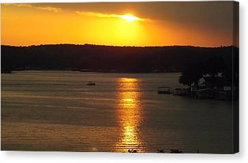 Lake Sunset  Canvas Print by Don Koester