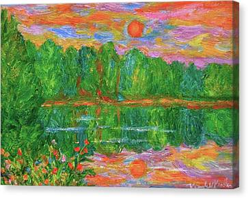 Lake Sunset Canvas Print by Kendall Kessler