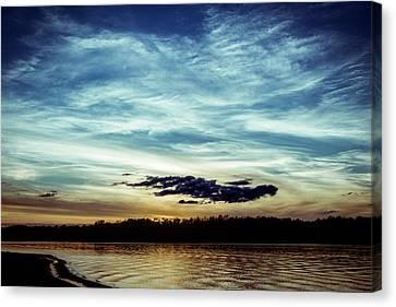 Lake Sunset Canvas Print by Scott Meyer