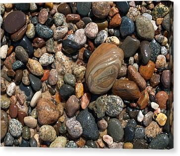 Lake Superior Stones Canvas Print by Don Newsom