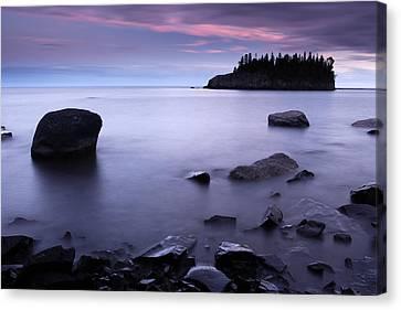Lake Superior Twilight Canvas Print by Eric Foltz