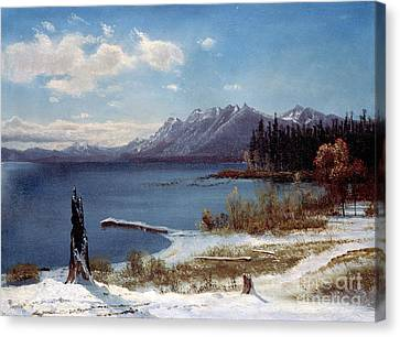 Lake Tahoe Canvas Print by Albert Bierstadt