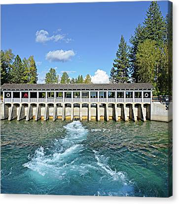 Lake Tahoe Dam Canvas Print