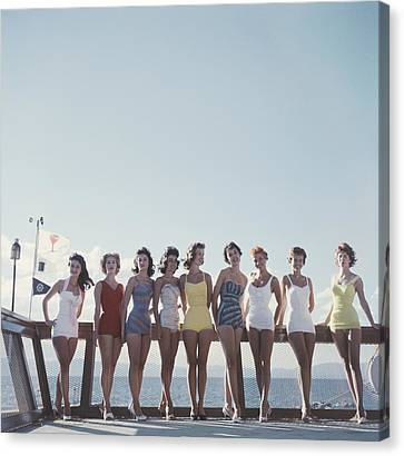 Lake Tahoe Ladies Canvas Print by Slim Aarons