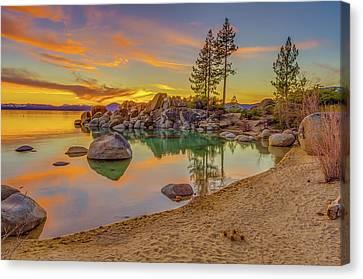 Lake Tahoe Majestic Sunset Canvas Print by Scott McGuire