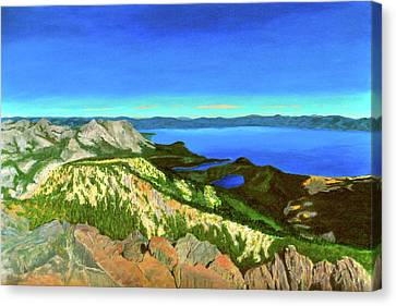 Lake Tahoe Panorama Canvas Print