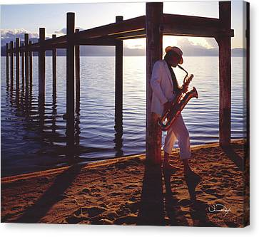 Lake Tahoe Sax Canvas Print by Vance Fox