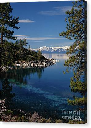 Lake Tahoe Smooth Canvas Print by Vance Fox