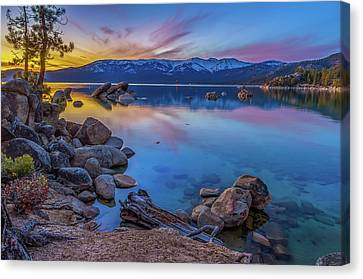 Lake Tahoe Spring Kaleidoscope  Canvas Print