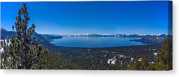Lake Tahoe Spring Overlook Panoramic Canvas Print by Scott McGuire