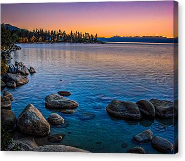 Lake Tahoe State Park Fall Sunset Canvas Print