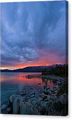 Lake Tahoe Sunset Portrait 2 Canvas Print by Sean Sarsfield