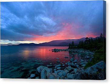 Lake Tahoe Sunset Canvas Print by Sean Sarsfield