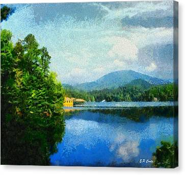 Lake Tahoma In Marion Nc Canvas Print by Elizabeth Coats