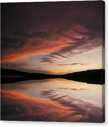 Lake Thunderbird Sunset Canvas Print by Rick Friedle