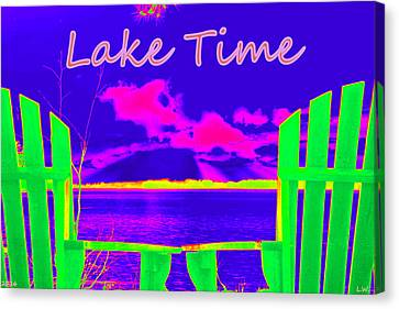 Lake Time Canvas Print by Lisa Wooten