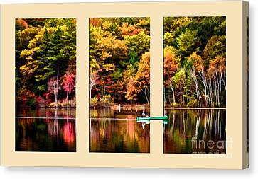 Lake Transition Canvas Print by Garland Johnson