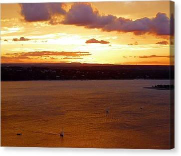 Lake Travis Sunset Canvas Print by Tim Mattox