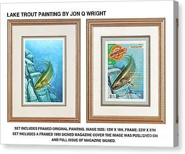 Canvas Print - Lake Trout Original by JQ Licensing