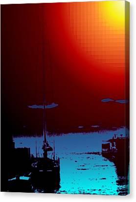Lake Union Moorage Canvas Print by Tim Allen