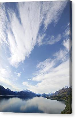 Lake Wakatipu Sky Canvas Print by Barry Culling