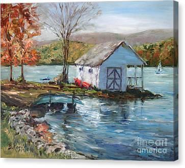 Lake Waramaug Autumn Canvas Print by B Rossitto