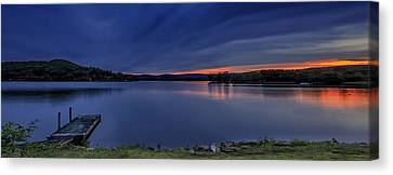 Lake Waramaug Sunset Panorama Canvas Print by John Vose