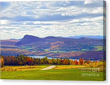 Lake Willoughby In Autumn Canvas Print by Catherine Sherman
