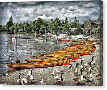 Canvas Print featuring the photograph Lake Windamere by Walt Foegelle