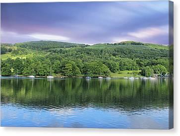 Lake Windermere Reflection Canvas Print