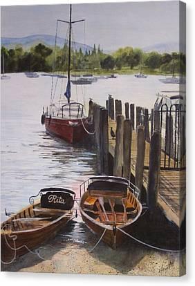 Lake Windermere Canvas Print by Victoria Heryet