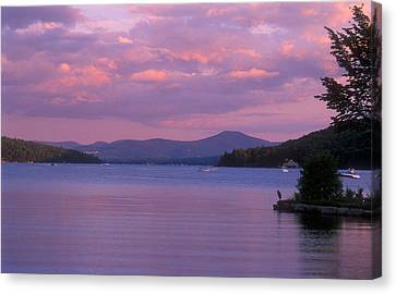 Lake Winnipesaukee Evening Canvas Print by John Burk