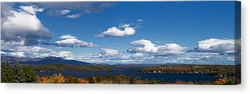 Lake Winnipesaukee New Hampshire In Autumn Canvas Print by Stephanie McDowell