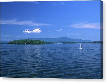 Lake Winnipesaukee Summer Day Canvas Print by John Burk