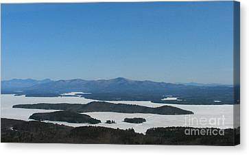 Lake Winnipesaukee View From Mt. Major Canvas Print by Michael Mooney