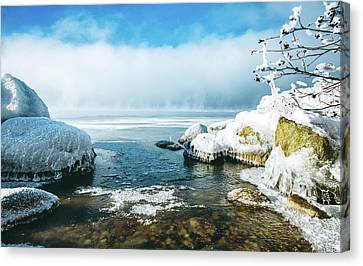 Canvas Print featuring the photograph Lake Winnisquam by Robert Clifford