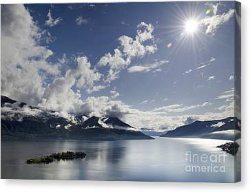 Lake With Islands Canvas Print by Mats Silvan