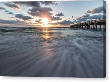 Seascape Canvas Print - Lake Worth Morning by Jon Glaser