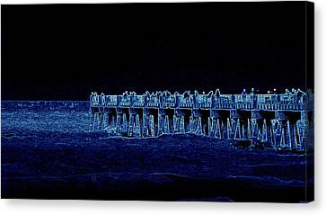 Canvas Print featuring the painting Lake Worth Pier Artwork by David Mckinney