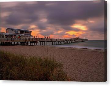 Lake Worth Pier Canvas Print by Juergen Roth