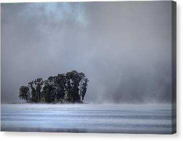 Lake Wylie Canvas Print - Lake Wylie Foggy Morning by Dustin K Ryan