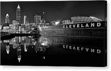Lakefront Charcoal Canvas Print by Frozen in Time Fine Art Photography