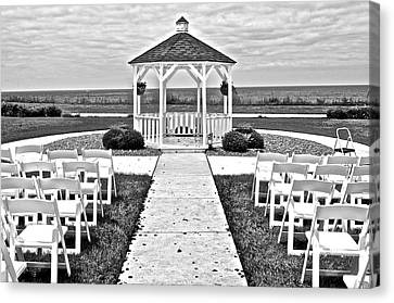 Lakefront Wedding Canvas Print by Frozen in Time Fine Art Photography
