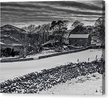 Lakeland Barn Canvas Print by Keith Elliott