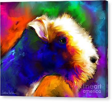 Lakeland Terrier Dog Painting Print Canvas Print by Svetlana Novikova