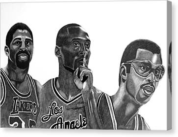 Laker Greats Canvas Print by Keeyonardo