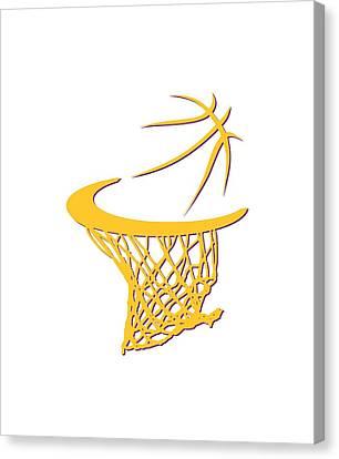 Lakers Basketball Hoop Canvas Print