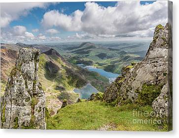 Lakes Of Snowdonia Canvas Print by Adrian Evans