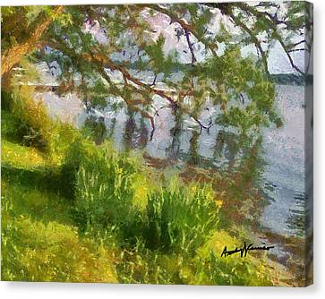 Lakeshore Canvas Print by Anthony Caruso