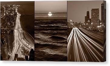 Lakeshore Chicago Canvas Print by Steve Gadomski